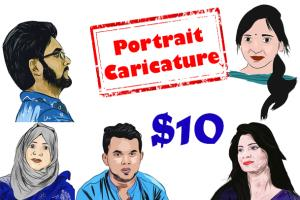 Portfolio for Draw An Awesome Portrait Caricature
