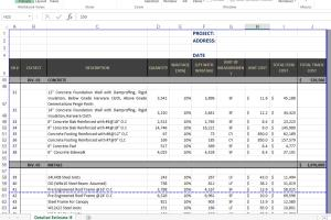 Portfolio for Building Cost Estimation & Material Off
