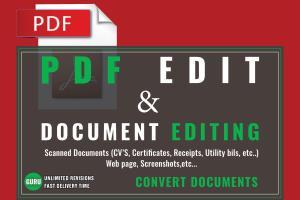 Portfolio for Edit PDF or any Document