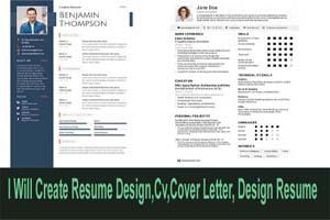 Portfolio for Resume CV & Cover Letter Design
