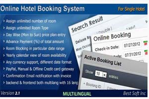 Portfolio for Online Hotel Booking System