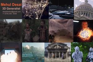 Portfolio for VFX Supervisor/ CG Lead/Sr 3D Generalist