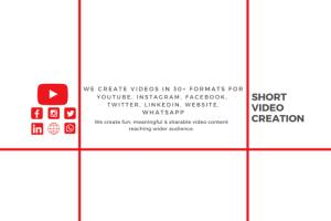 Portfolio for Short Video Creation for marketing