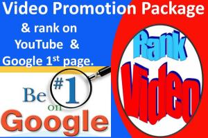 Portfolio for Rank your video on youtube 1st page