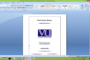 Portfolio for Microsoft word documentation