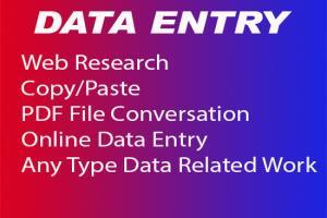 Portfolio for Data entry,Validation,
