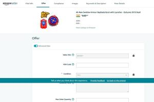 Portfolio for Amazon Webstore Management Data Entry