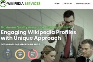Portfolio for Wikipedia Page Creation Editing Service