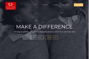 Portfolio for Develop responsive charity organization