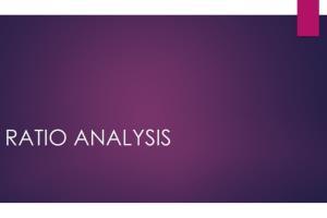 Portfolio for Ratio Analysis & Interpretation