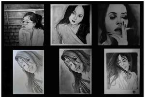 Portfolio for Pencil Portrait Drawing