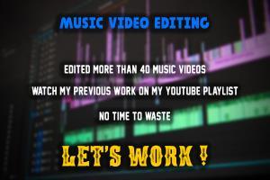 Portfolio for MUSIC VIDEO EDITING