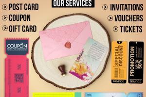 Portfolio for i will design postcard voucher  coupon