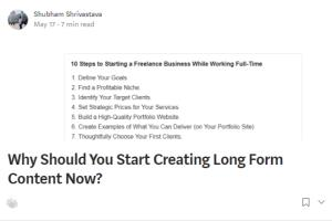 Portfolio for Blog Writing | Actionable Blog Posts
