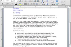 Business and Sales Letters