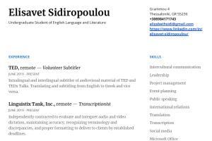 Portfolio for Writer, Translator and Subtitler