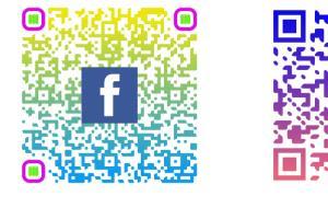 Portfolio for QR code design with company Logo