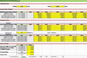 Portfolio for Excel Spreadsheet