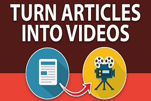 Portfolio for Article-Text in to Video Converter