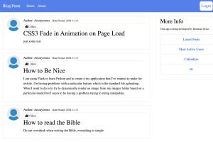 Portfolio for Full stack Python & JavaScript