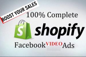 Portfolio for create video ads for drop shipping shopi