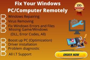 Portfolio for Fix Windows PC/Laptop Remotely