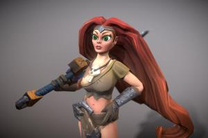 Portfolio for 3d Modeling GAME Characters (Hand-Paint)