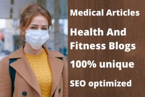 Portfolio for I will write medical articles and blogs