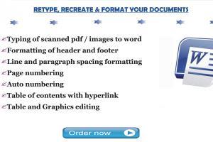 Portfolio for Create, Edit, Format, Design Documents
