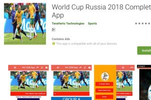 Realtime score result World Cup App