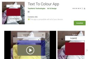 Text To Color Mobile App