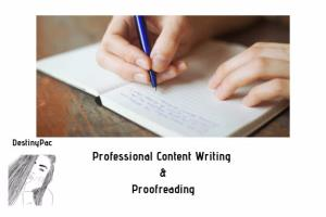 Portfolio for Content Writing - Proofreading