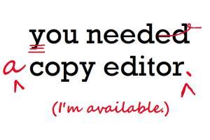 Portfolio for Copyeditor