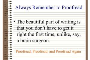 Portfolio for Proofreader