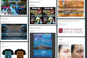 Portfolio for I will design your flyer / business card