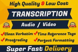Portfolio for Professional Transcriber