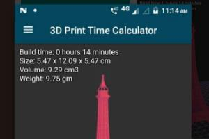 3D Print Time Calculator Android app