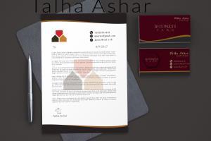 Portfolio for Letter head design and envelop