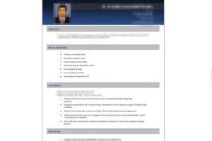 Portfolio for Resume/ CV design and writing