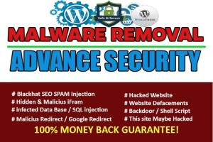 Portfolio for Fix hacked wordpress site,malware remove