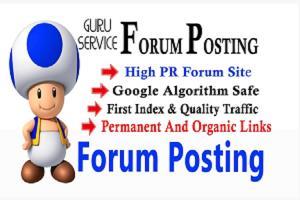 Portfolio for Unique Forum Posting Linkbuilding