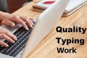 Portfolio for Copy Typing and Data Entry