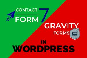 Portfolio for Form using Gravity Form, Contact Form 7
