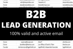 Portfolio for B2B Lead Generation