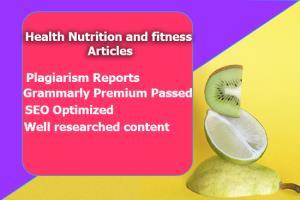 Portfolio for I will create engaging health content