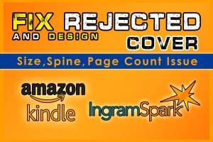 Portfolio for Fix rejected Book Cover Amazon KDP
