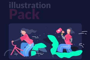 Portfolio for Vector illustrations for web & mobile