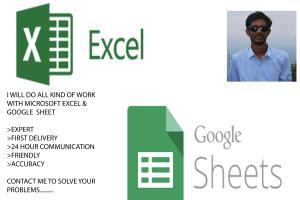Portfolio for EXCEL & GOOGLE SHEET