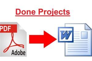 Portfolio for PDF to Word / Excel Conversion