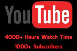 Portfolio for YouTube Basic Threshold For Monetisation